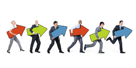 Multiethnic Group of Business People with Growth