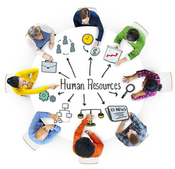 Multiethnic Group of People with Human Resources Concept