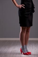 hot red heels on nice legs