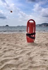 Lifeguard bayou at the beach
