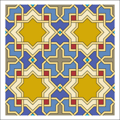 Arabesque pattern, vector tiling blocks