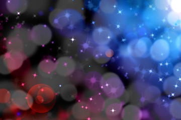 abstract magic light bokeh with glittering star