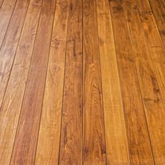 Wooden teak lumber wall