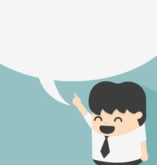 Business with speech bubbles
