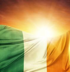 Ireland flag and sky