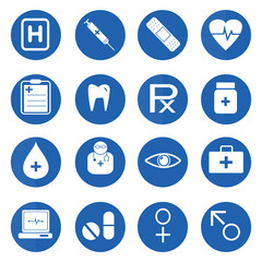 Medical and science icon set