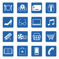 Vector collection of shopping icons set