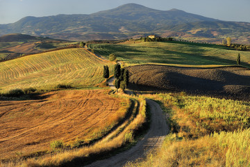 Toscania, Włochy, Krajobraz wiejski