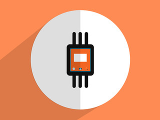 Wrist Watch ,Flat design style