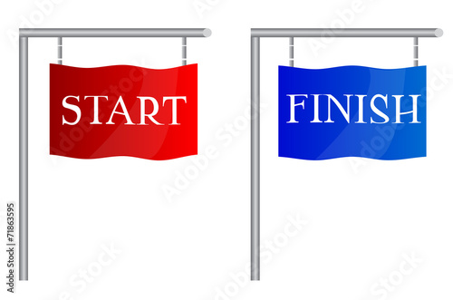 Start finish flags