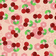 Pattern with a cherry - Illustration