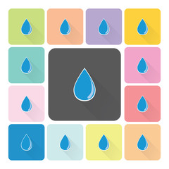 Water Icon color set vector illustration