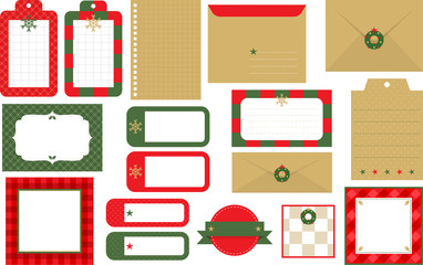 Design elements of banner and frame for Christmas B