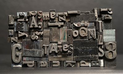 Metal Type Printing Press Typeset Taxes Typography Text Letters