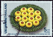 Sweetmeats on tray with leaf design (Thailand 1990)