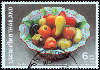Fruits in bowl (Thailand 1990)