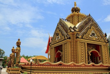 The Beautiful Thailand Temple at Prachuap Province