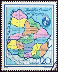 Map of Uruguay (Uruguay 1973)