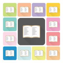 Book Icon color set vector illustration