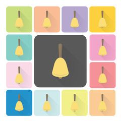 Bell Icon color set vector illustration