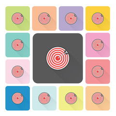 Target Icon color set vector illustration