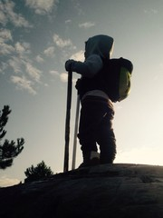 sevimli küçük dağcı
