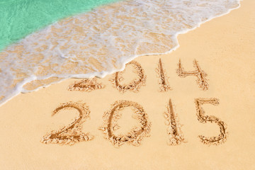 Numbers 2015 on beach