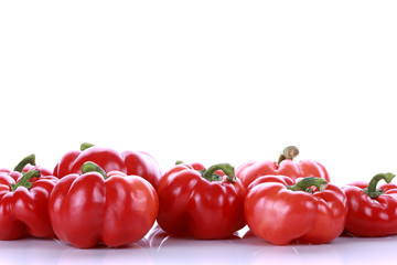 red paprika pepper on white background