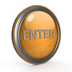 enter circular icon on white background