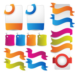 web banner bookmark tags