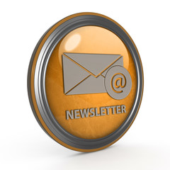 Newsletter circular icon on white background