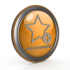 Favorite circular icon on white background