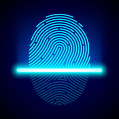 Fingerprint scanner, identification system