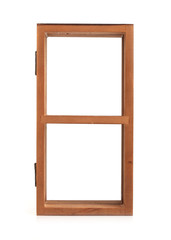 wood shelves for decoration house isolated on white background