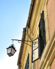 street lamp and window