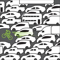 Bike at rush hour