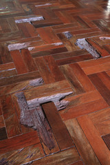 parquet wood old floor surface