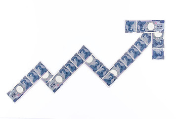 Japanese yen note symbol