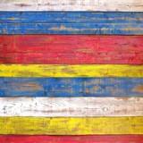 Fototapeta Colorful Wooden Plank Panel