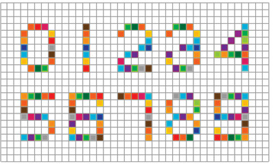 set of bright mosaic numbers