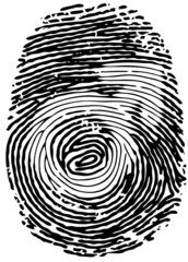 Thumb print with male gender symbol