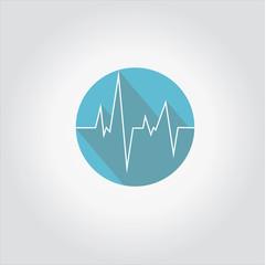 medical, healthcare concept of ecg or ekg ,flat design