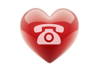 Heart Contact Icon