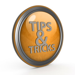 Tips & tricks circular icon on white background