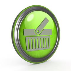 shopping cart circular icon on white background