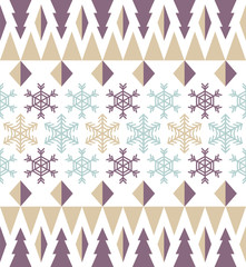 Snowflake pattern for winter and Christmas