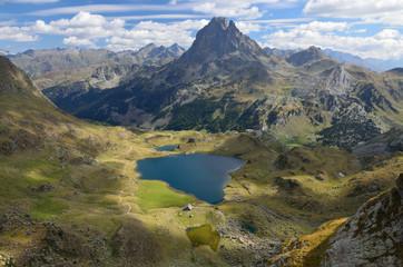 Peak du Midi d'Ossau and the lake Gentau