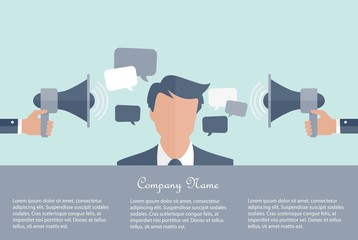 Business communication concept