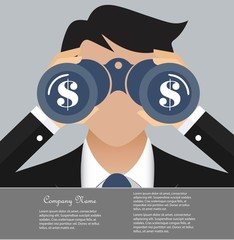 Business and finance vision concept