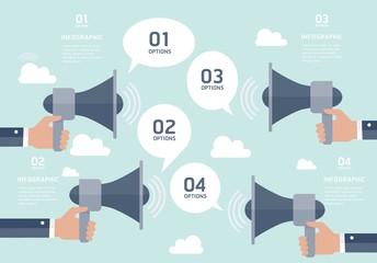 Communication infographic elements